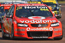 Craig Lowndes has won the opening race of this weekend's series in his hometown of Ipswich. Source / Getty Images
