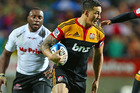 Sonny Bill Williams makes a break during the Chiefs' Super Rugby final win over the Sharks in Hamilton. Source / Getty Images