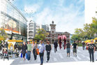 An illustrative concept of the planned Square in Christchurch. Photo / CERA