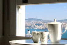 A view across the Bosphorus from the pasha!place apartment in Istanbul. Photo / Supplied