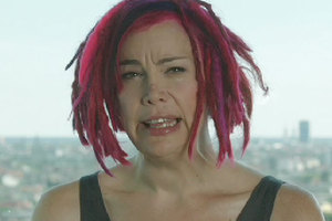 Lana Wachowski is unveiled for the first time in an introduction for the trailer for Cloud Atlas. Photo / Apple