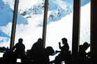 The cafe at the top of Whakapapa skifield, Mt Ruapehu. Photo / Edward Rooney