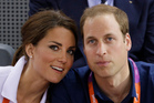 Prince William, right, and wife Kate, Duke and Duchess of Cambridge, watch track cycling at the velodrome during the 2012 London Olympics. Photo / AP