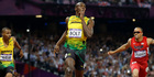 View: Olympics: Bolt completes 100-200 double