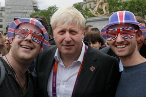 A Chinese blogger described London Mayor Boris Johnson, getting up to all kinds of stupidity, foolishness, loveliness and silliness while looking like a typical British gentleman. Photo / AP