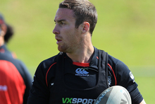James Maloney going down injured after 16 minutes against the Sharks may just be the best thing to happen for the Warriors on a humiliating Sunday afternoon. Photo / Greg Bowker.