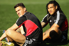 Sonny Bill Williams at 110kg and Ma'a Nonu at 104kg pack a frightening punch. Photo / Getty Images.