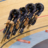 New Zealand's Olympic Games men's team pursuit team, Aaron Gate, Sam Bewley, Jesse Sergeant and Marc Ryan on their bronze medal winning ride. Photo / Mark Mitchell.