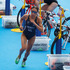 New Zealand's Andrea Hewitt heads off on the 10km run stage of the Women's triathlon at Hyde Park. Photo / Mark Mitchell.