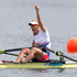 Miroslava Knapkova of Czechoslovakia winning Gold in the Final of the Womens Single Sculls. Photo / Brett Phibbs.