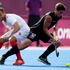 New Zealand's Nicholas Wilson in action against Belgium's Maxime Luycx. Photo / Mark Mitchell.