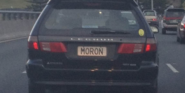 Driving your mate's car? Check the number plate first... Photo / Supplied