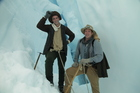 Kevin Biggar and Jamie Fitzgerald re-enact early New Zealand explorations. Photo / Supplied