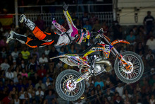 The winner of the Red Bull X-Fighter title will ride off with $1 million. Photo / Red Bull Content Pool