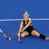 New Zealand Black Sticks Charlotte Harrison in action against Netherlands. Photo / Brett Phibbs.