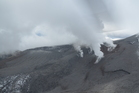 Steam spills from Mt Tongariro. Photo / GNS Science