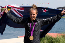 Lisa Carrington won gold in the 200m women's canoe sprint. Photo / Brett Phibbs