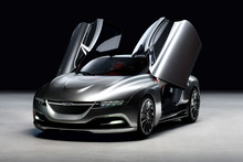 The Saab PhoeniX concept car was shown at the Geneva motor show. Photo / Supplied