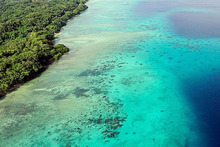 An aerial view of Espiritu Santo, Vanuatu. Photo / US Air Force