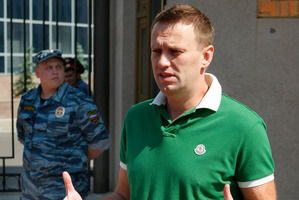 Russian protest leader Alexei Navalny. Photo / AP