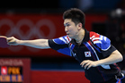Ryu Seung Min of South Korea competes against Kim Hyok Bong of North Korea. Photo / AP