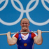 Russia's Andrey Demanov reacts during the men's 94-kg weightlifting competition. Photo / AP.