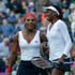 United States' Venus Williams, right, and Serena Williams, left, react after defeating Maria Kirilenko and Nadia Petrova, of Russia, for the women's doubles semifinal match. Photo / AP.