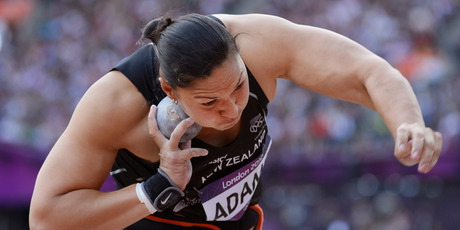 Valerie Adams in action. Photo / AP