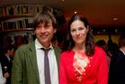 Alex James with wife Claire James. Photo / AP