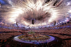 Fireworks explode during the Opening Ceremony at the 2012 Summer Olympics. Photo / AP.
