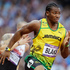 Jamaica's Yohan Blake competes in a men's 200-meter semifinal. Photo/ AP.