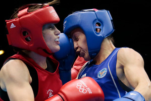 Katie Taylor (left) has won gold for Ireland.Picture / AP