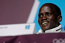 Marathon runner Guor Marial, who is stateless. Photo / AP