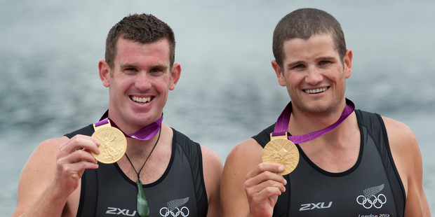 The metal in the gold medals of New Zealand double scullers Joseph Sullivan and Nathan Cohen is worth over $1700. Photo / Brett Phibbs
