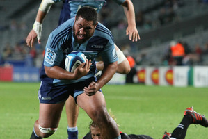 Prop Charlie Faumuina will be fighting Owen Franks for a berth when the All Blacks play the Wallabies in Sydney. Photo / Greg Bowker