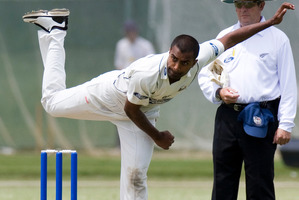New Zealand need a spinner like Tarun Nethula. Photo / Paul Estcourt