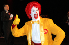 Ronald McDonald is the child-friendly face of the fast-food giant. Photo / APN