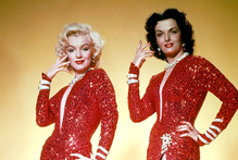 Marilyn Monroe and Jane Russell in Gentlemen Prefer Blondes.