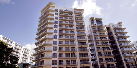 The Bianco apartment building in central Auckland. Apartments in this building were sold as part of the Blue Chip property investment scheme. Photo / Janna Dixon