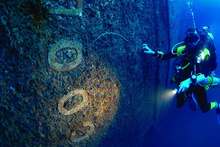 The SS President Coolidge is one of the most acclaimed wreck dives in the world. Photo / Supplied