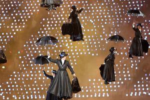 Mary Poppinses at the London Olympics opening ceremony. Photo / Mark Mitchell