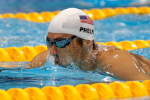 USA's Michael Phelps. Photo / Mark Mitchell