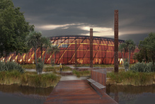 An artist's impression of the proposed Te Puna Ahurea Cultural Centre, which will be part of the $30 billion overhaul of Christchurch's new urban centre. Photo / Supplied