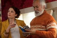 Jodie Hillock and George Henare in Educating Rita.