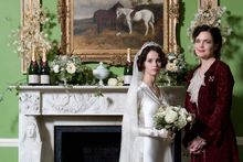 Elizabeth McGovern and Felicity Jones in Cheerful Weather for the Wedding. 