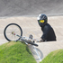 New Zealand BMX rider Marc Willers crashes out in the semi final of the Men's Cycling BMX. Photo / Brett Phibbs