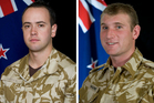 Lance Corporal Pralli Durrer and Lance Corporal Rory Malone. Photos / Supplied