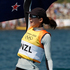 Olivia Powrie and Jo Aleh win the gold medal the Olympic Games women's 470 dinghy sailing. Photo / Mark Mitchell