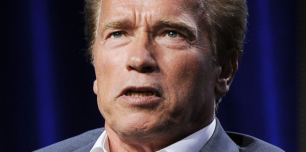 Arnold Schwarzenegger reportedly has a new catchphrase that pokes fun of his age. Photo / AP