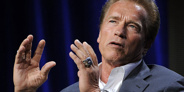 Arnold Schwarzenegger says his worst film could be used to get terrorists to talk. Photo / AP